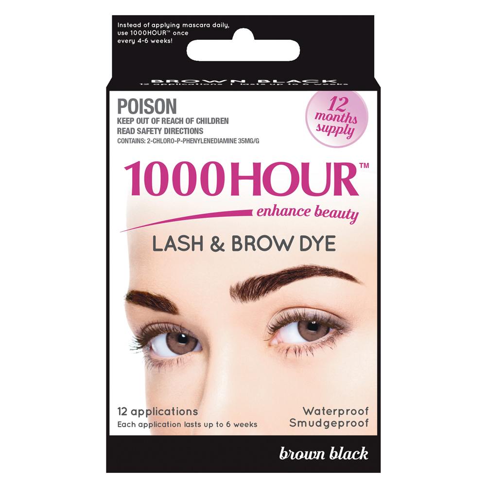 Image of 1000 Hour 1000 Hour Eyelash & Brow Dye Kit Brown-Black 1 Kit