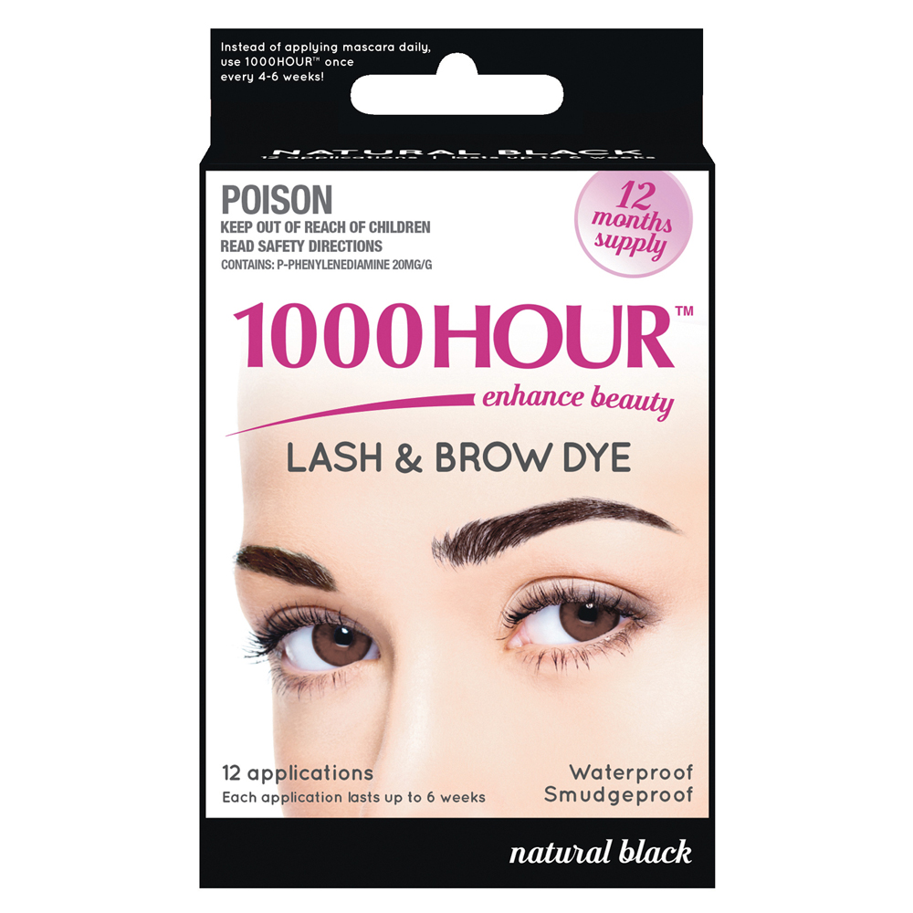 Image of 1000 Hour 1000 Hour Eyelash & Brow Dye Kit Natural Black 1 Kit