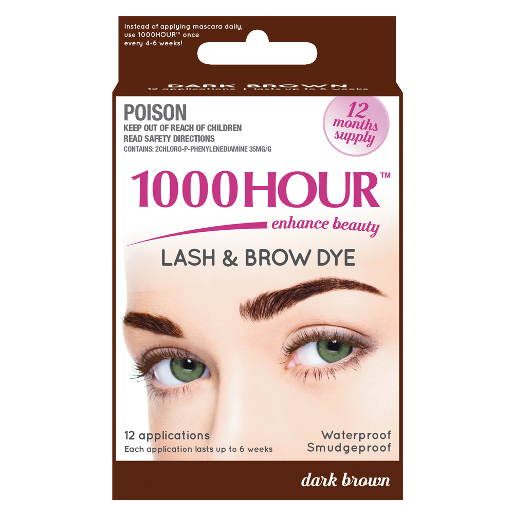 Image of 1000 Hour 1000 Hour Eyelash & Brow Dye Kit Dark Brown 1 Kit