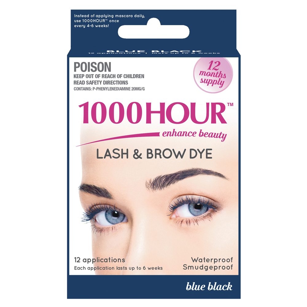 Image of 1000 Hour 1000 Hour Eyelash & Brow Dye Kit Blue Black 1 Kit