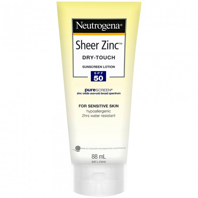 Neutrogena Sheer Zinc Sunscreen Lotion SPF 50 88 mL
