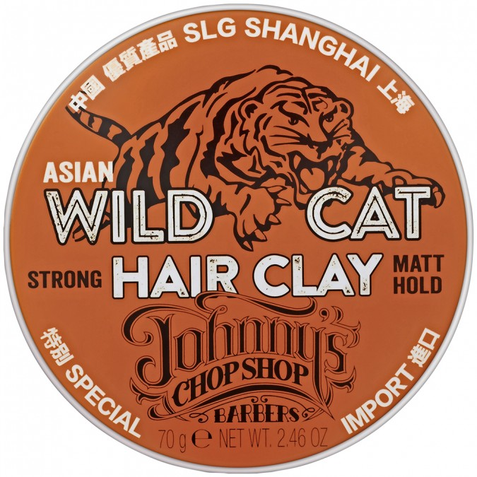 Johnny's Chop Shop Asian Wild Cat Hair Clay Strong Matt Hold 70 g