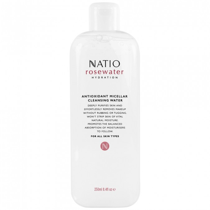 Natio Rosewater Hydration Antioxidant Micellar Cleansing Water 250 mL