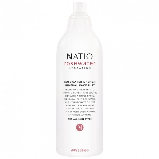 Natio Rosewater Hydration Moisture Drench Mineral Face Mist 200 mL