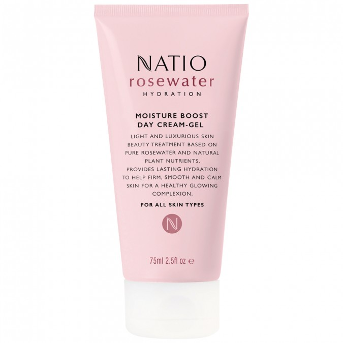 Natio Rosewater Hydration Moisture Boost Day Cream-Gel 75 mL
