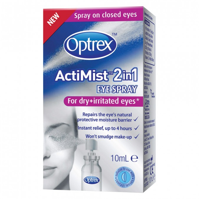Optrex Actimist 2in1 Eye Spray for Dry & Irritated Eyes 10 mL