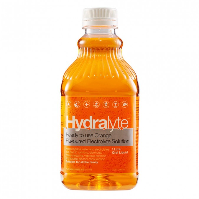 Hydralyte Ready to use Orange Flavoured Electrolyte Solution 1 L