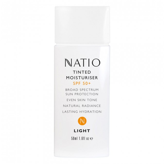 Natio Tinted Moisturiser SPF 50+ 50 mL | Tuggl