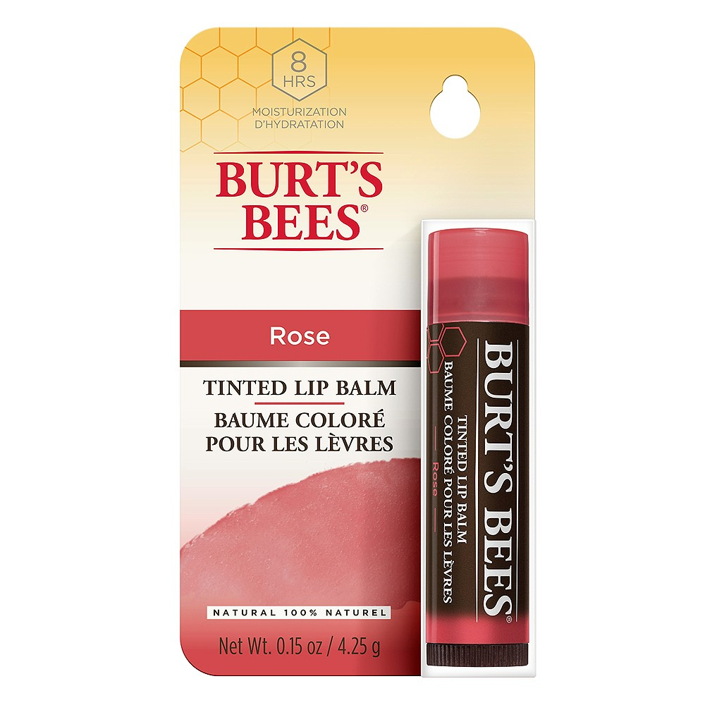 Buy Naturally Tinted Lip Balm In Rose 4 3 G By Burts Bees Online Priceline