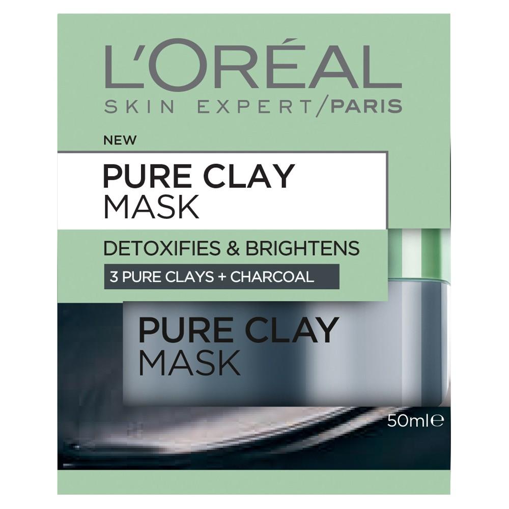 Image result for L'Oreal charcoal clay mask
