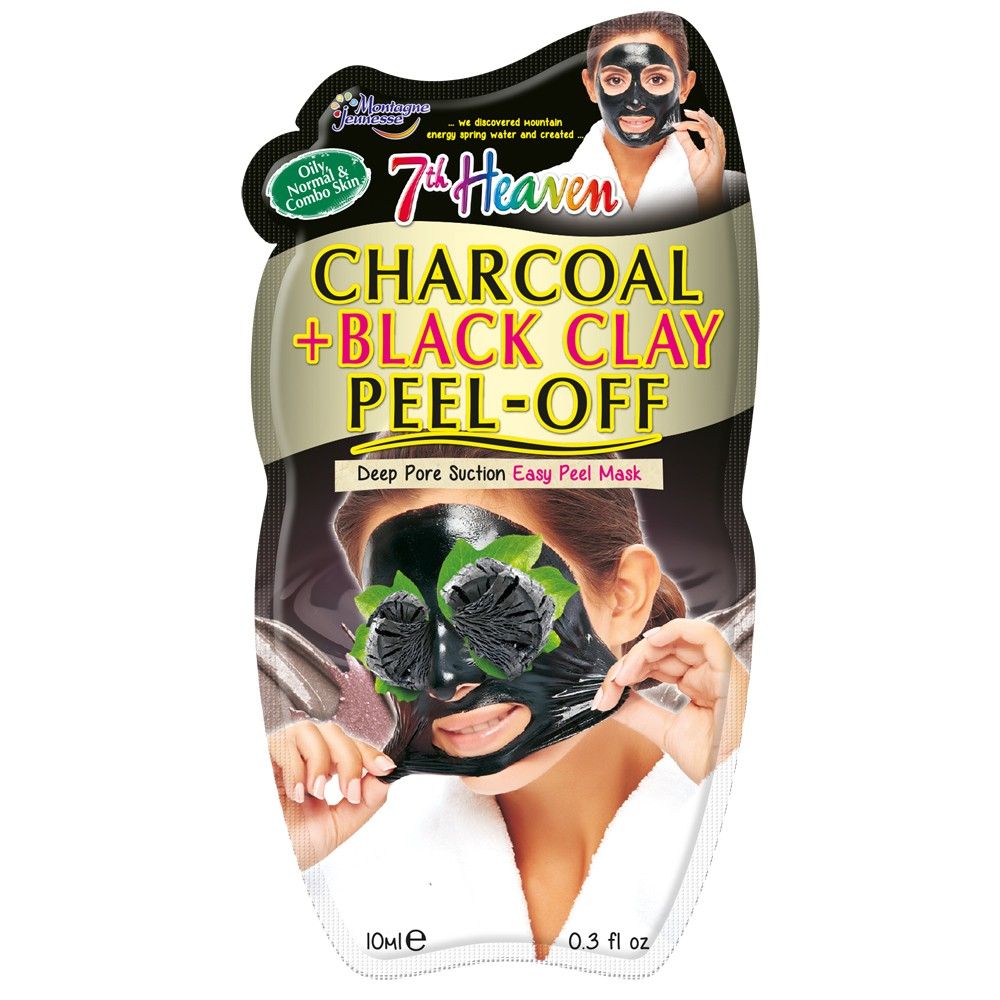 Charcoal & Black Clay Peel Off Mask 10 mL