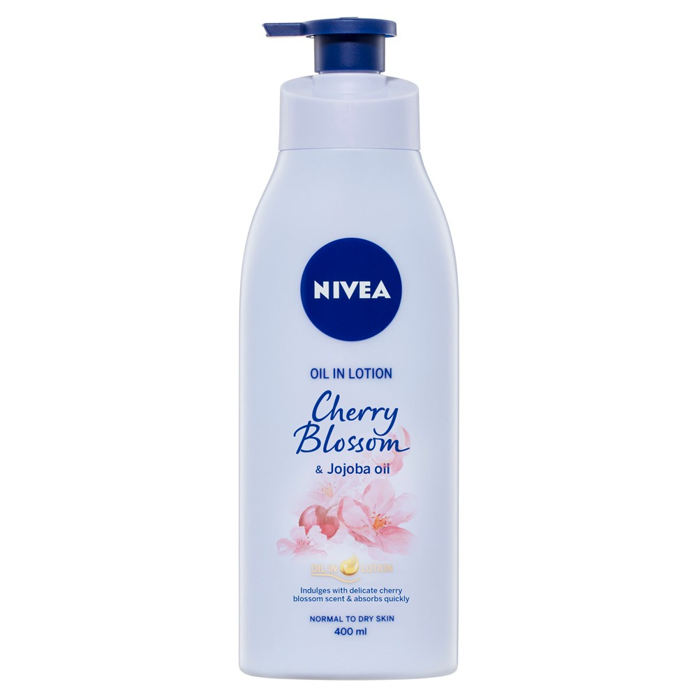 Buy Body Oil In Lotion Cherry Blossom Jojoba 400 Ml By Nivea Online Priceline