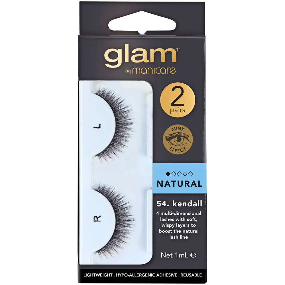 8b9de63781d Buy Glam Lash Natural Mink effect 54 Kendall 2 Pairs by Glam By ...