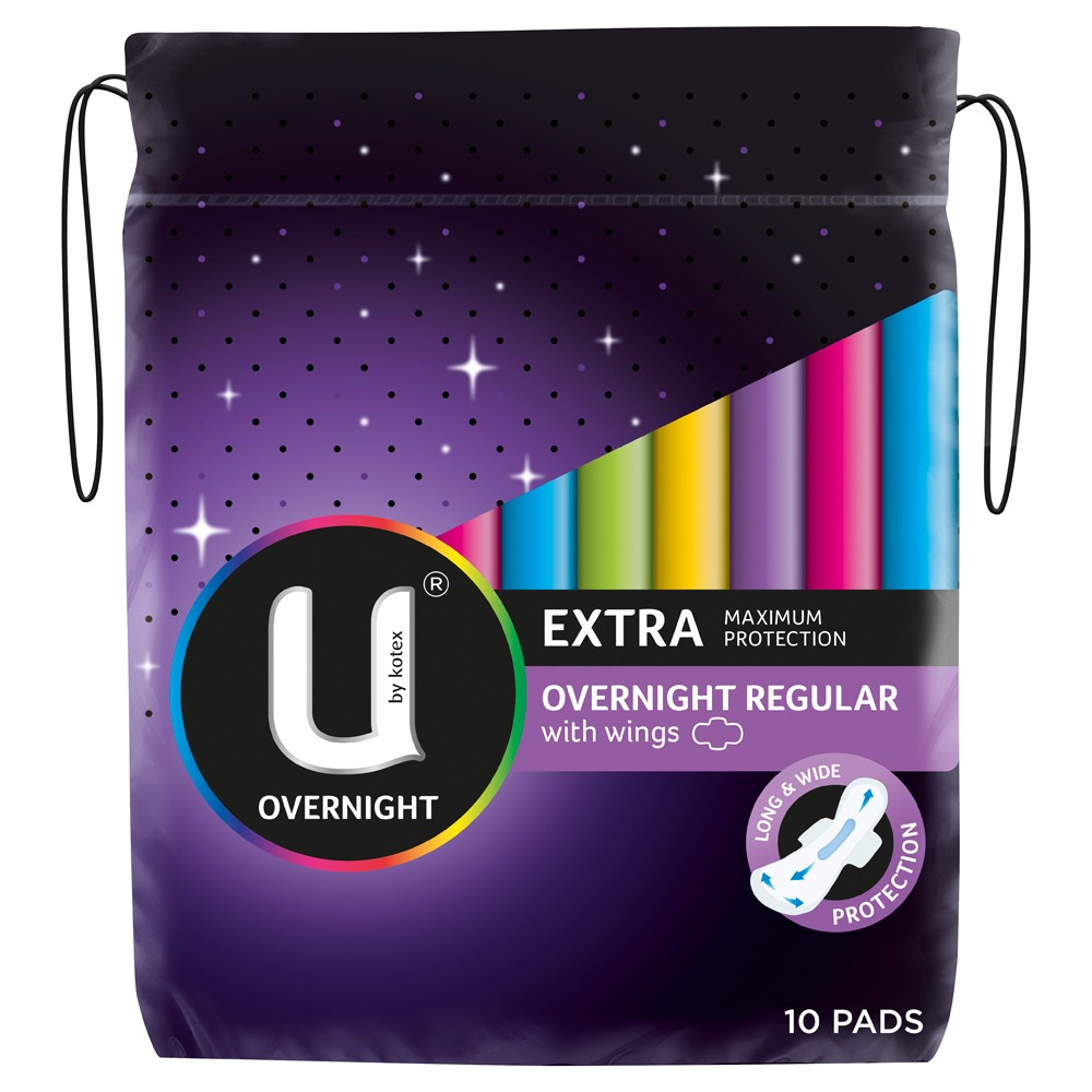Extra Overnight Pads with Wings 10 Pack