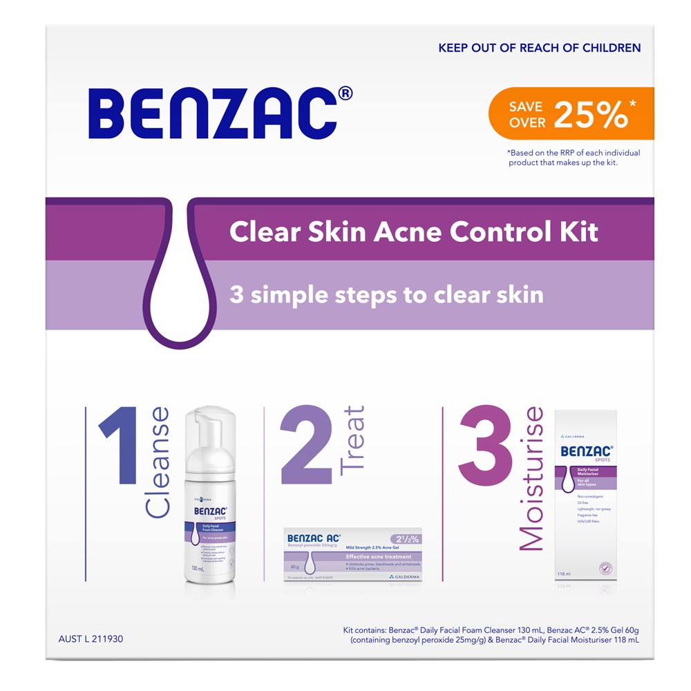 Adult Acne | BENZAC CLEAR SKIN ACNE CONTROL KIT | Beanstalk Single Mums