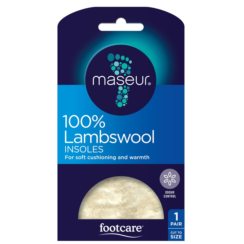 8cd626d8b942 Buy Lambswool Foam Latex Backed Insoles 1 Pair by Footcare Online ...