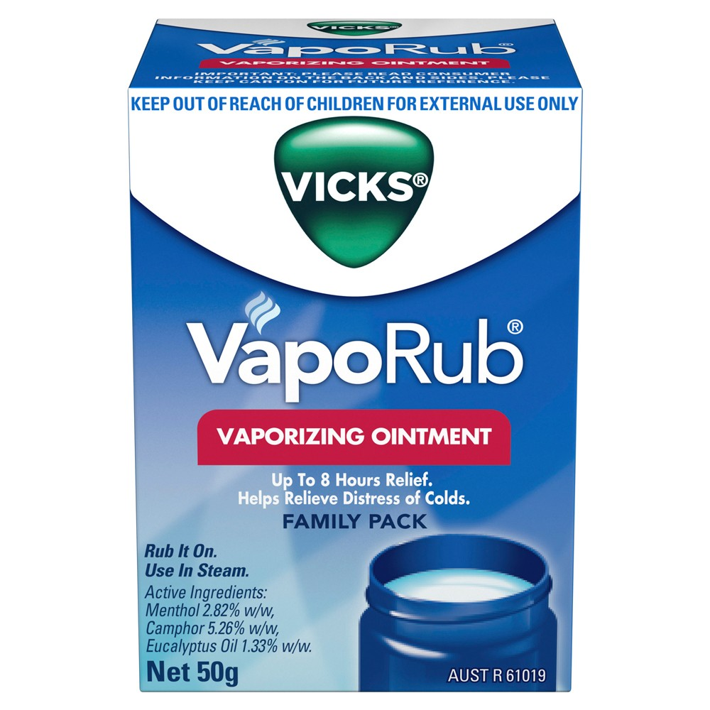 VapoRub Ointment Decongestant Chest Rub 50 g