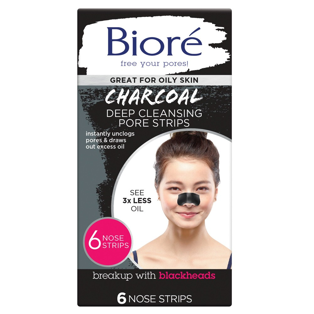 Buy Deep Cleansing Charcoal Pore Strips 6 Pack By Biore Online Priceline