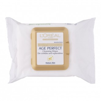 L'oreal Paris Age Perfect Cleansing Wipes 25 pack