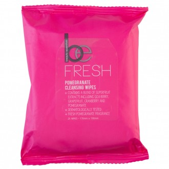 Beauty Essentials Pomegranate Cleansing Wipes 25 wipes