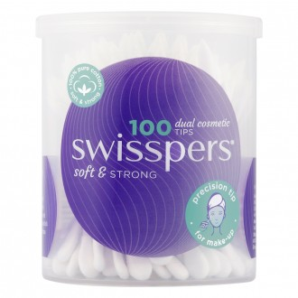 Swisspers Dual Cosmetic Cotton Tips 100 pack