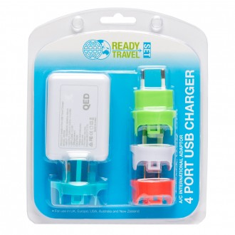 Ready Set Travel 4 Port USB Charger 1 ea