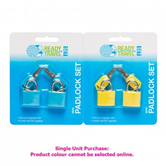 Ready Set Travel Mini Padlock Set 2 pack