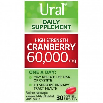 Ural Daily Supplement Cranberry 60,000mg 30 capsules