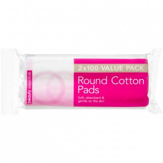 Beauty Essentials Round Cotton Pads Value Pack 200 pack
