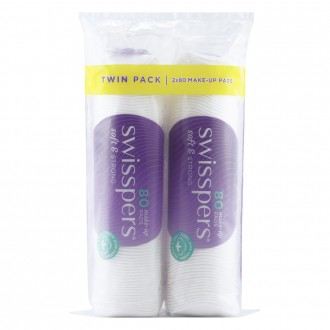 Swisspers Make-up Pads Twin Pack 160 pack