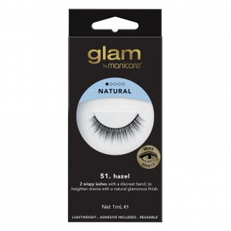 Glam By Manicare Glam 51. Hazel Mink Effect Lashes 1 Pair