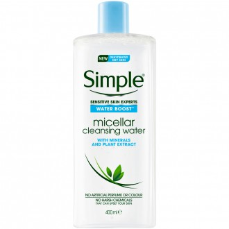 Simple Water Boost Facial Cleanser Micellar Water 400 mL