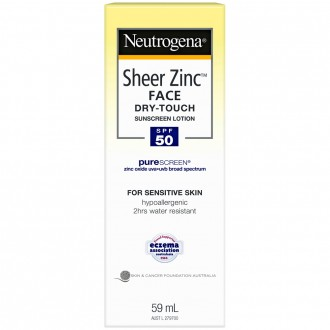 Neutrogena Sheer Zinc Face Sunscreen Lotion SPF 50 59 mL