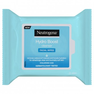 Neutrogena Hydro Boost Facial Cleanser Facial Wipes 25 pack