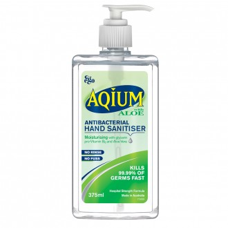 Ego Aqium Hand Sanitiser with Aloe 375 mL