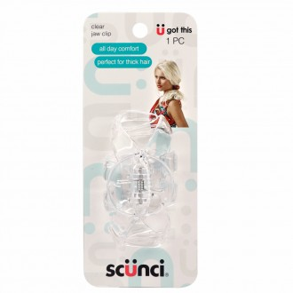 Scunci Large Clear Jaw Clip 1 ea