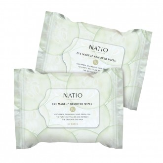 Natio Eye Make-Up Remover Wipes 30 Pack
