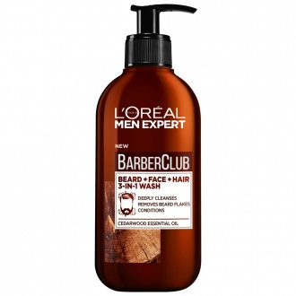 L'oréal Paris Men Expert Barber Club 3-in-1 Beard + Face + Hair Wash 200 mL