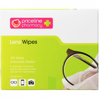 Priceline Lens Wipes 100 pack