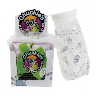 Chuckies Sickness Bags & Wipes 4 pack