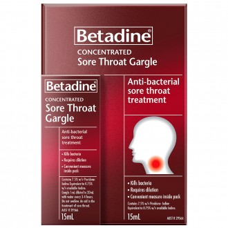 Betadine Concentrated Sore Throat Gargle 15 mL