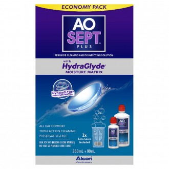 Aosept Plus with HydraGlyde Economy Pack 2 pack