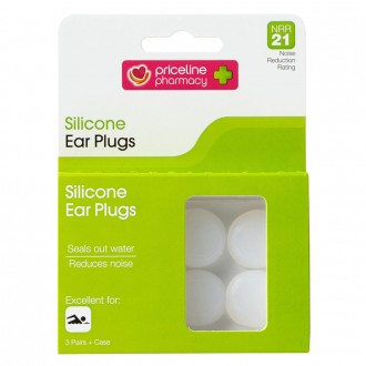 Priceline Silicone Ear Plugs 3 Pairs