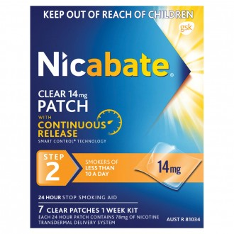 Nicabate Clear Patch 14mg Step 2 7 pack