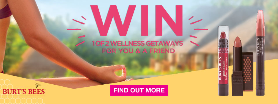 Win 1 of 2 Wellness Getaways with Burt's Bees