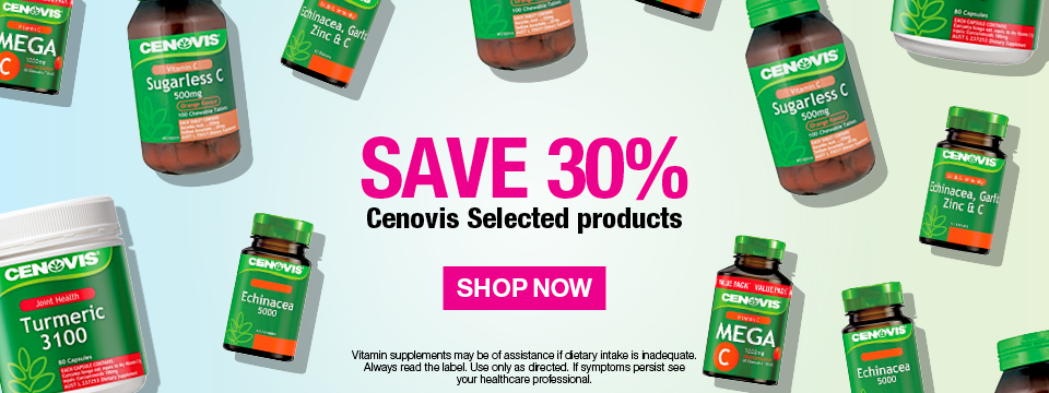 SAVE 30% CENOVIS† Selected products