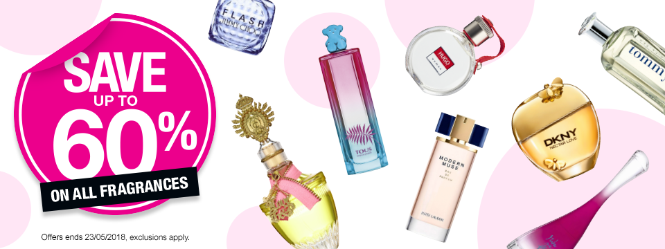 Save up to 60% On All Fragrances