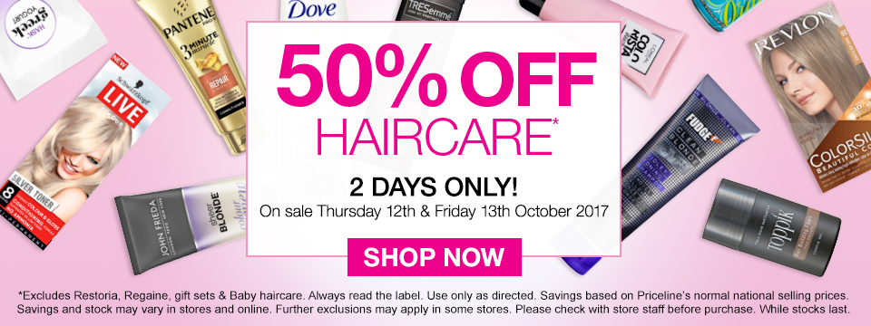 50% off Haircare