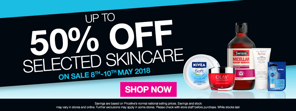 Up to 50% off selected Skincare