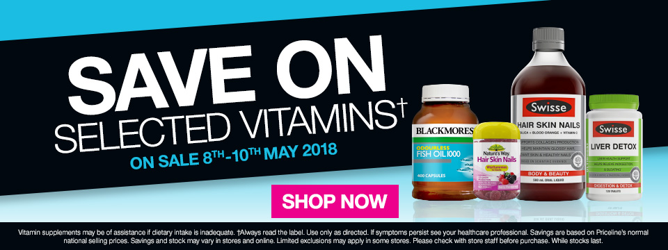 Save on selected vitamins